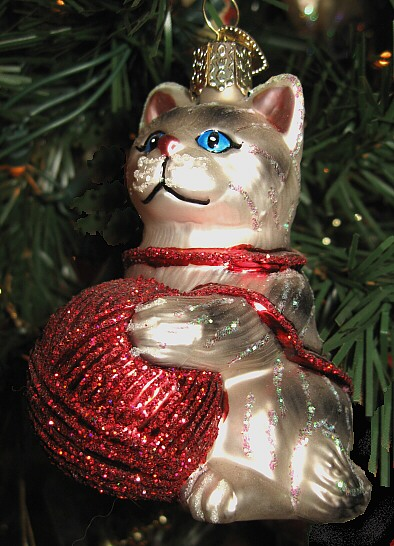 ive not been that fond of glass ornaments for my christmas tree i remember breaking far too many when i was young every glass ornament on my tree has - Cat Christmas Decorations